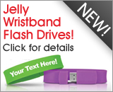 Click for details for Jelly Wristband Flash Drives